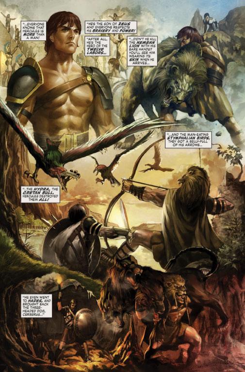 Comic books in Hercules by Bob Layton Trilogy